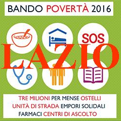 LAZIO.BANDO POVERTA