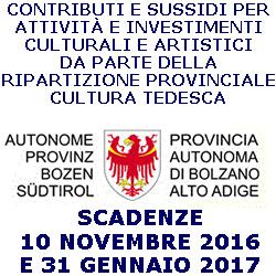 Bolzano.contributi.perattività.investimenti.cilturali.artistici.comunità.tedesca