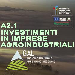 GAL ANTICO FRIGNANO INVESTIMENTI  IN IMPRESE AGROINDUSTRIALI A2.1