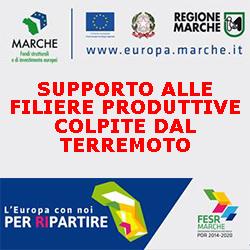 MARCHE SUPPORTO ALLE FILIERE  PRODUTTIVE COLPITE DAL TERREMOTO