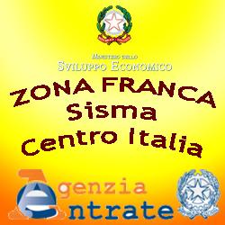 MISE.zona franca urbana sisma centro italia