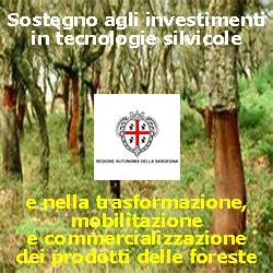 SARDEGNA Sostegno agli investimenti  in tecnologie silvicole