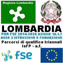 LOMBARDIA PERCORSI DI  QUALIFICA TRIENNALI FORMAZIONE PROFESSIONLE