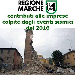 MARCHE contributi  alle imprese colpite dagli eventi sismici del 2016