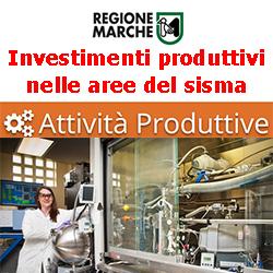 MARCHE Sostegno  agli investimenti produttivi nelle aree del sisma