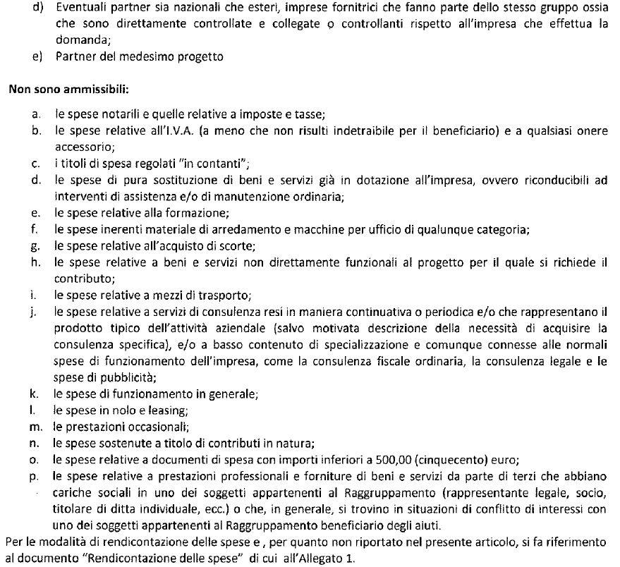 PUGLIA SPESE AMMISSIBILI 2